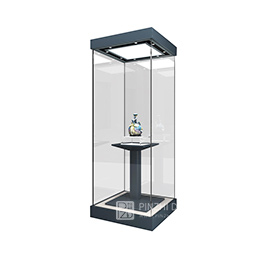 glass museum display showcase