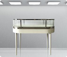 round jewelry display showcase
