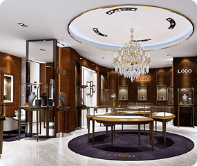 Jewellery Store Design Ideas With Jewelry Showcase