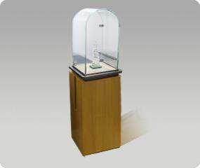 Corner wooden jewelry showcase