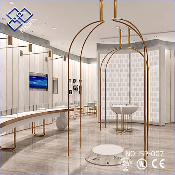Gold and silver jewelry shop design