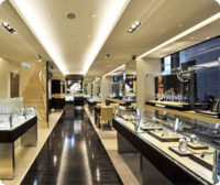 Retail watch shop design