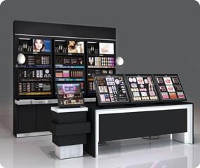 cosmetic showcase design