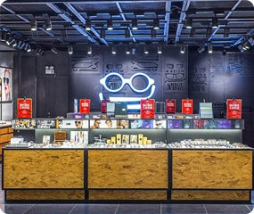 optical store showcase
