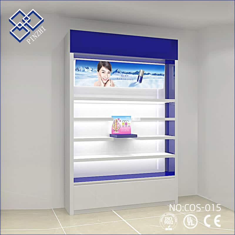 perfume display shelves