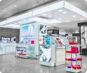makeup shop design ideas