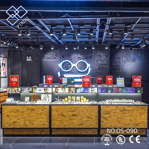 optical store showcase