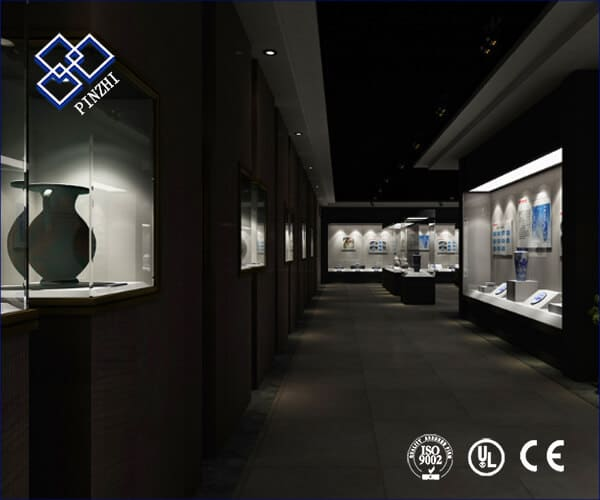 glass museum display case