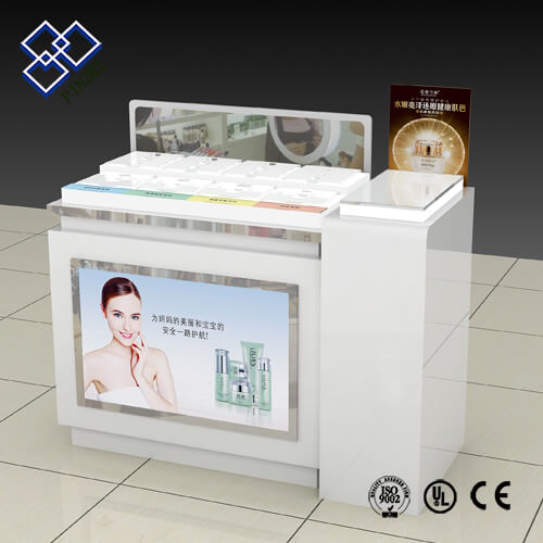 cosmetic shop counter