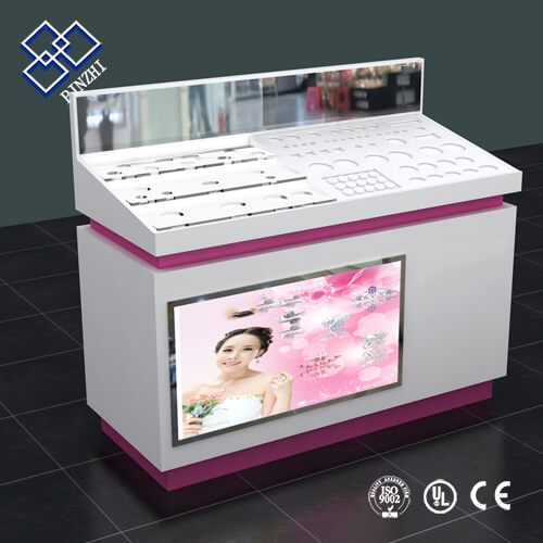 cosmetic kiosk counter
