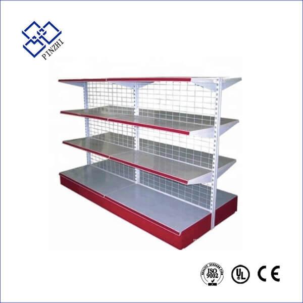gondola supermarket shelves