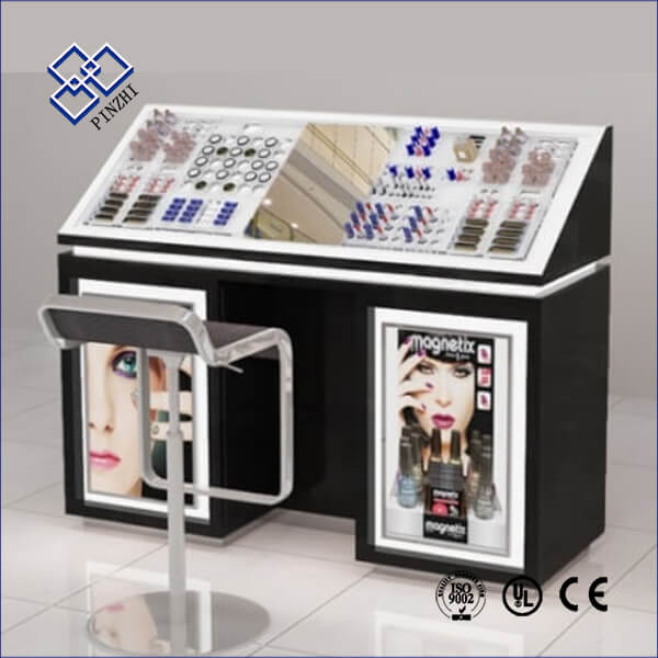 cosmetic shop table