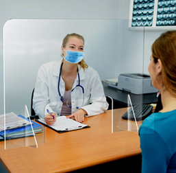 Sneeze Guards For Doctors Offices