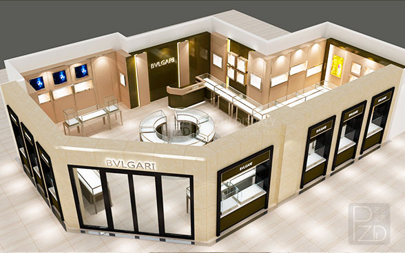 high end jewelry shop design