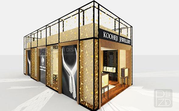 high end jewelry kiosk design