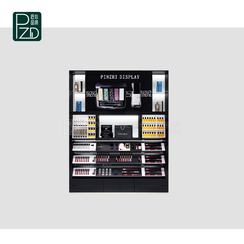 comtemporary cosmetic showcase for cosmetic shop