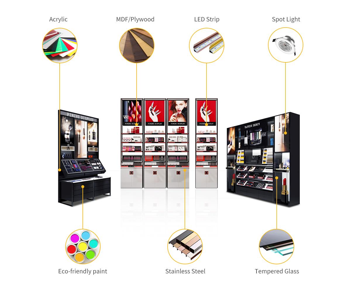 Pinzhi-Luxury showcase materials-Cosmetic