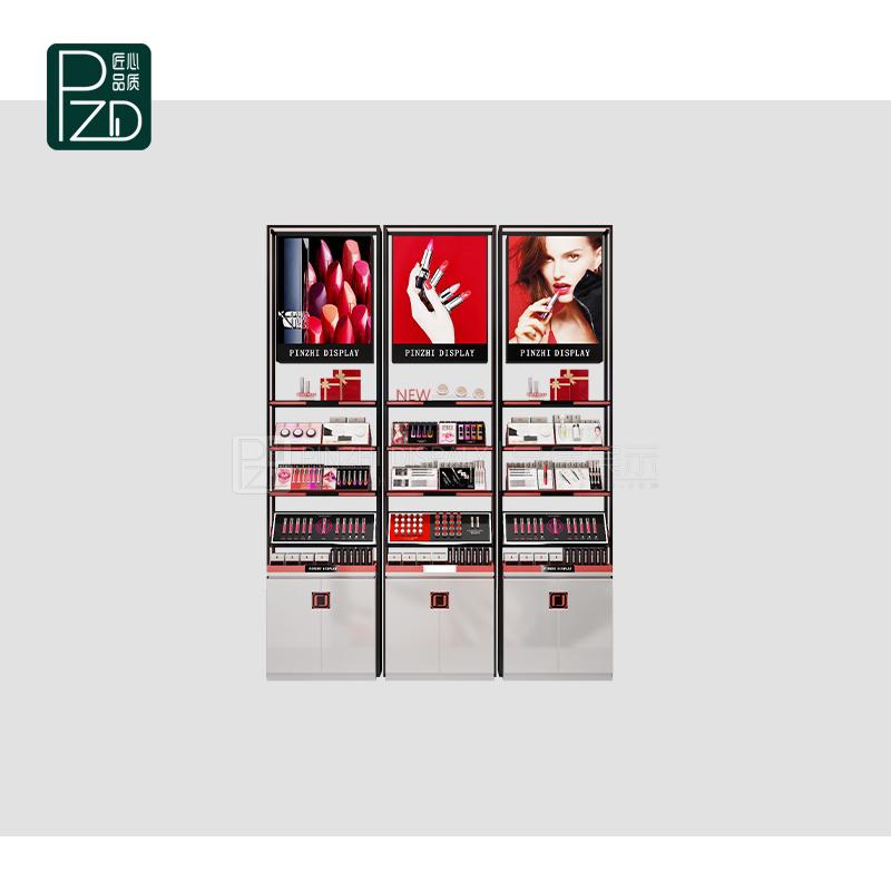 luxury perfume counter makeup display cosmetics rack
