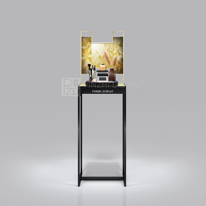 Customized free standing cosmetic shop display stand