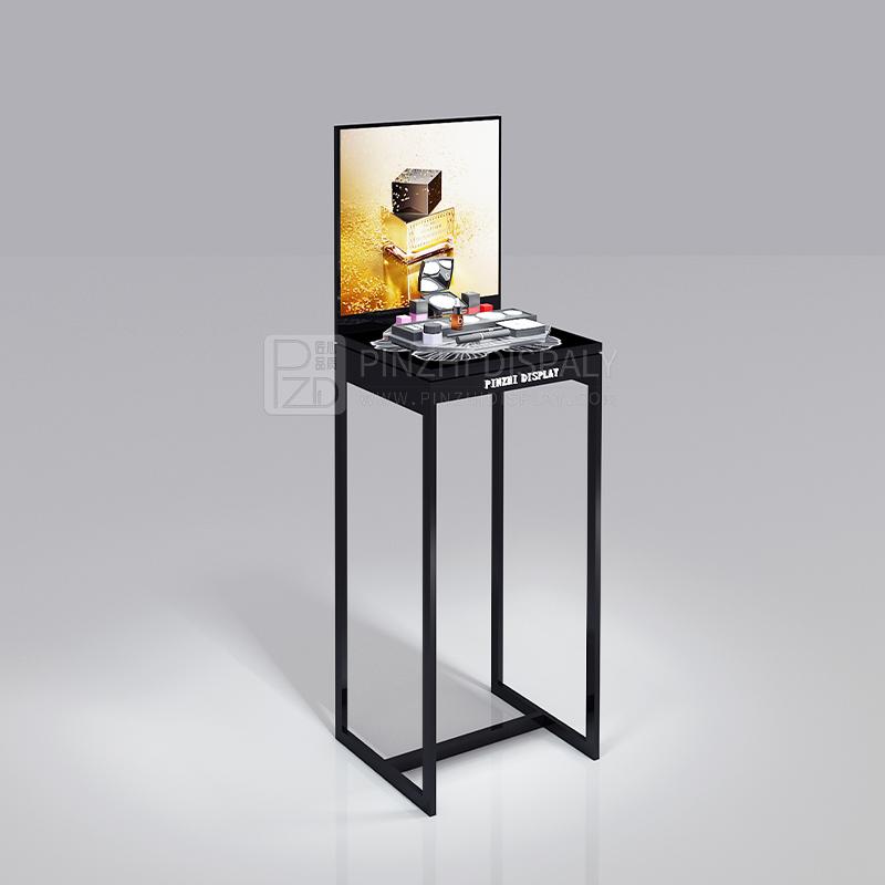 Elegant cosmetics display floor stand makeup showcase