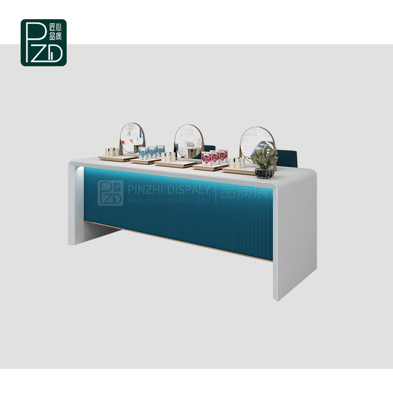Modern style makeup display showcase table for cosmetic shop