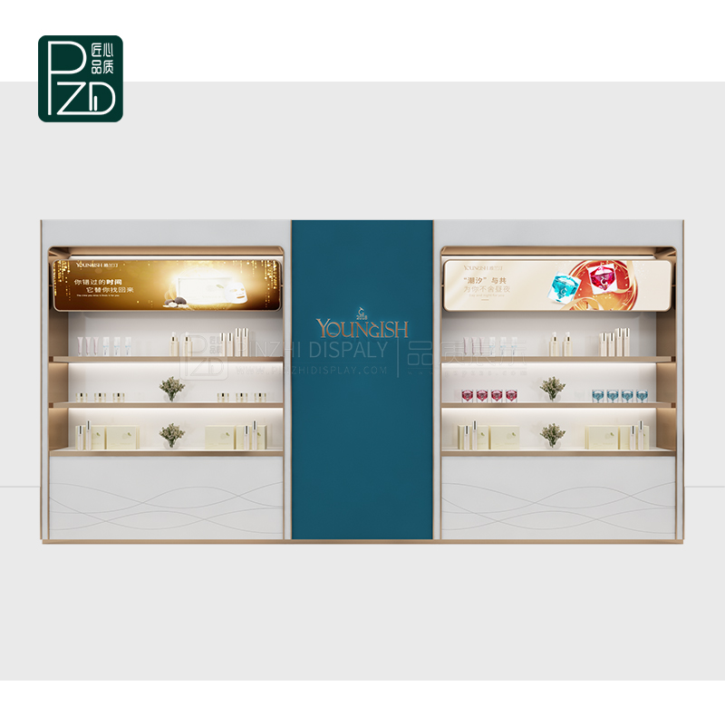 New design skincare cosmetic display furniture for cosmetic shop