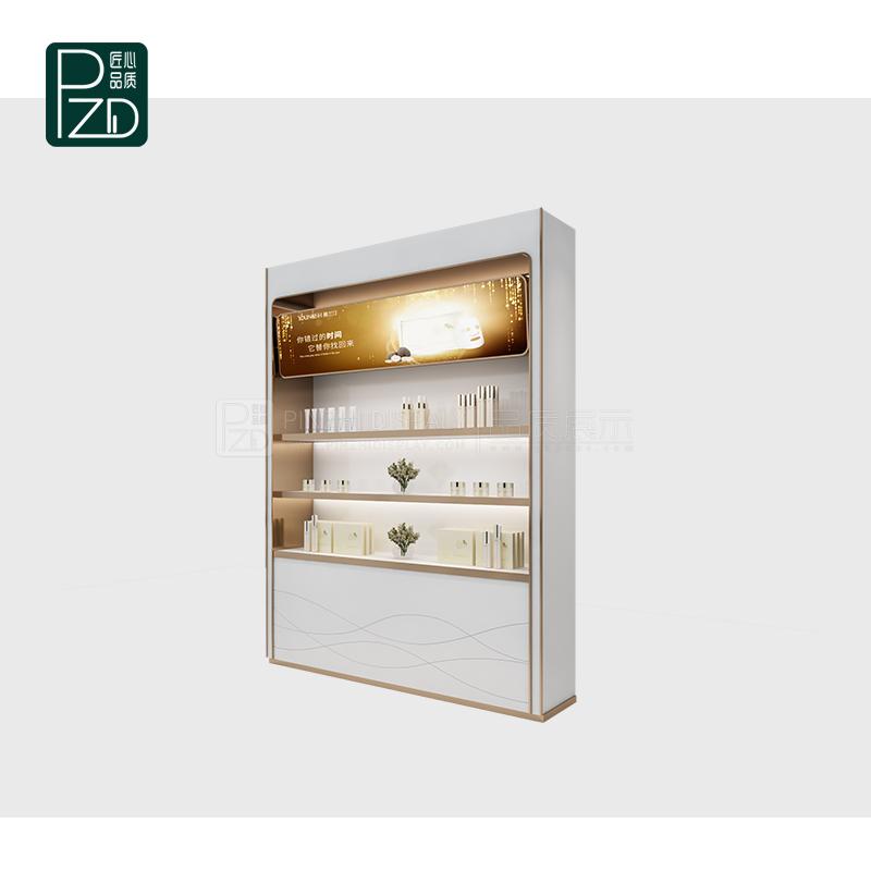 Elegant wall cosmetic display cabinet makeup wall shelves