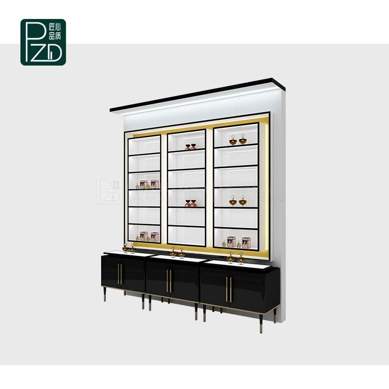 high end cosmetics shelves cosmetic display cases