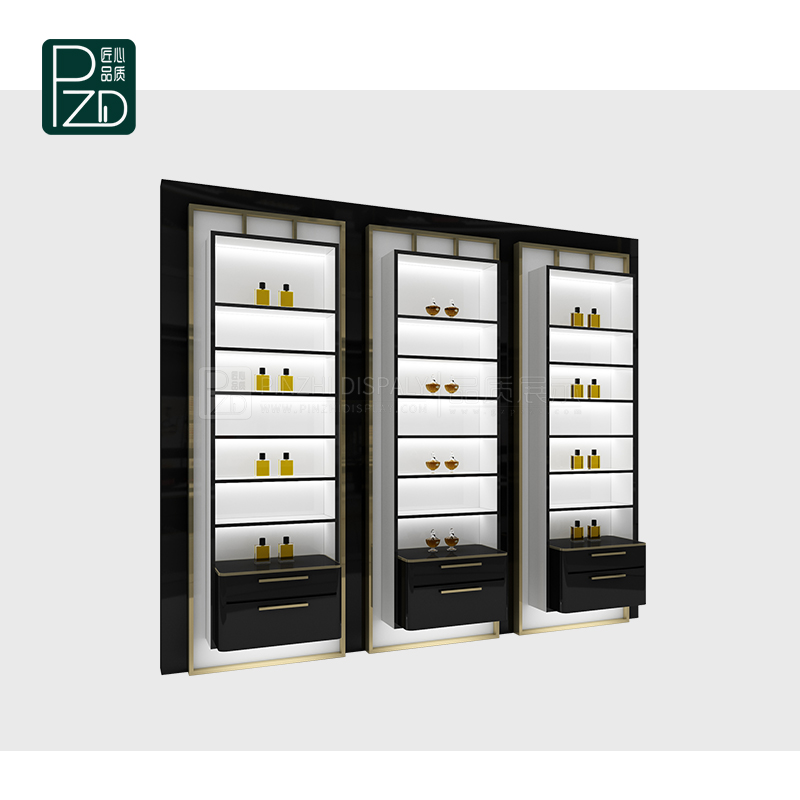 High quality cosmetic showcase furniture showcases for cosmetics