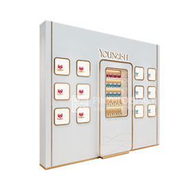 High end cosmetic shop showcase retail cosmetic display shelves