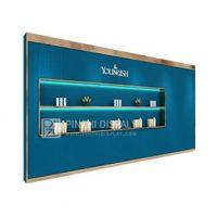 Elegant makeup display unit makeup wall display for shop