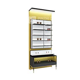 high end cosmetics display shelves perfume display case