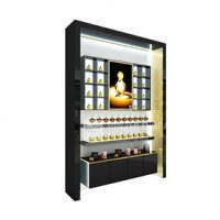 New design cosmetic display cabinet showcase wooden cosmetic showcase