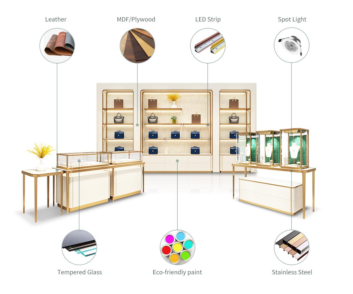 Pinzhi-Luxury showcase materials