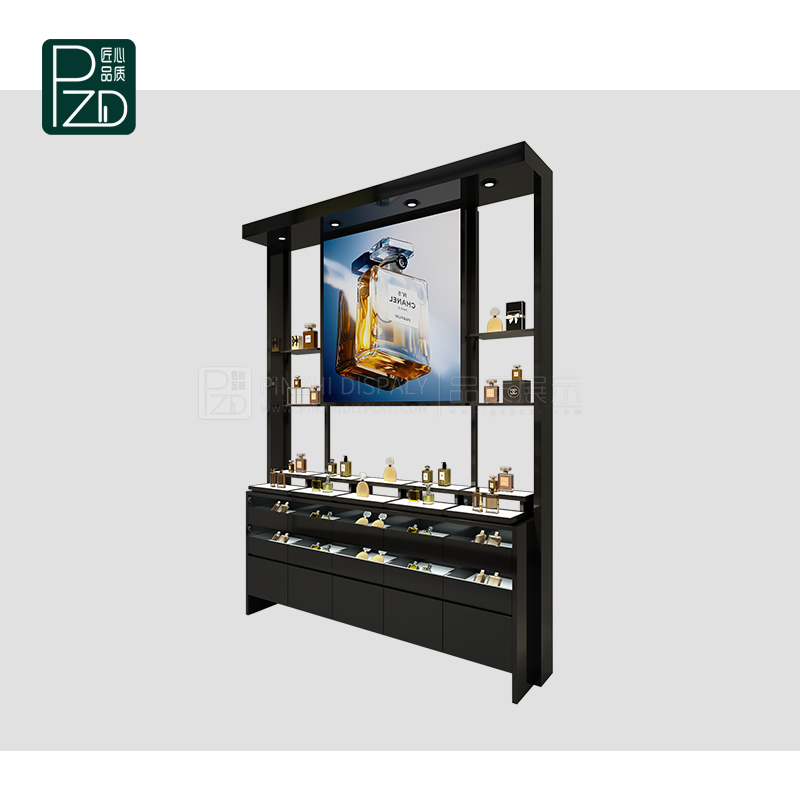 Luxury perfume display shelves perfume display showcase