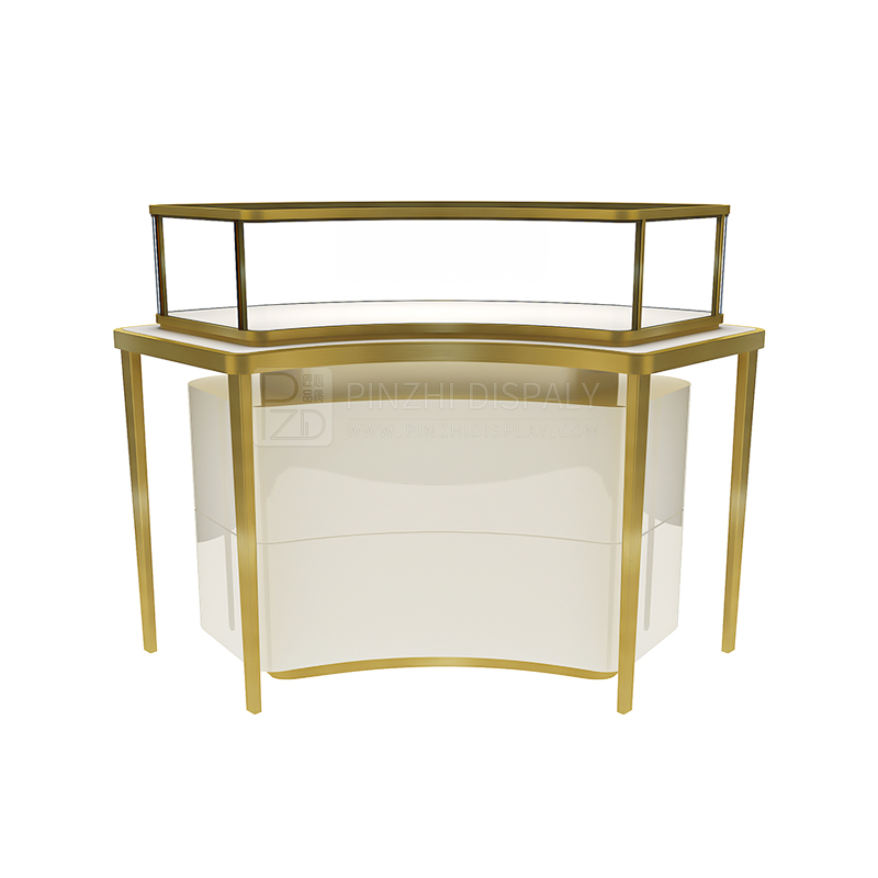 Luxury glass jewelry display showcase for Cartier
