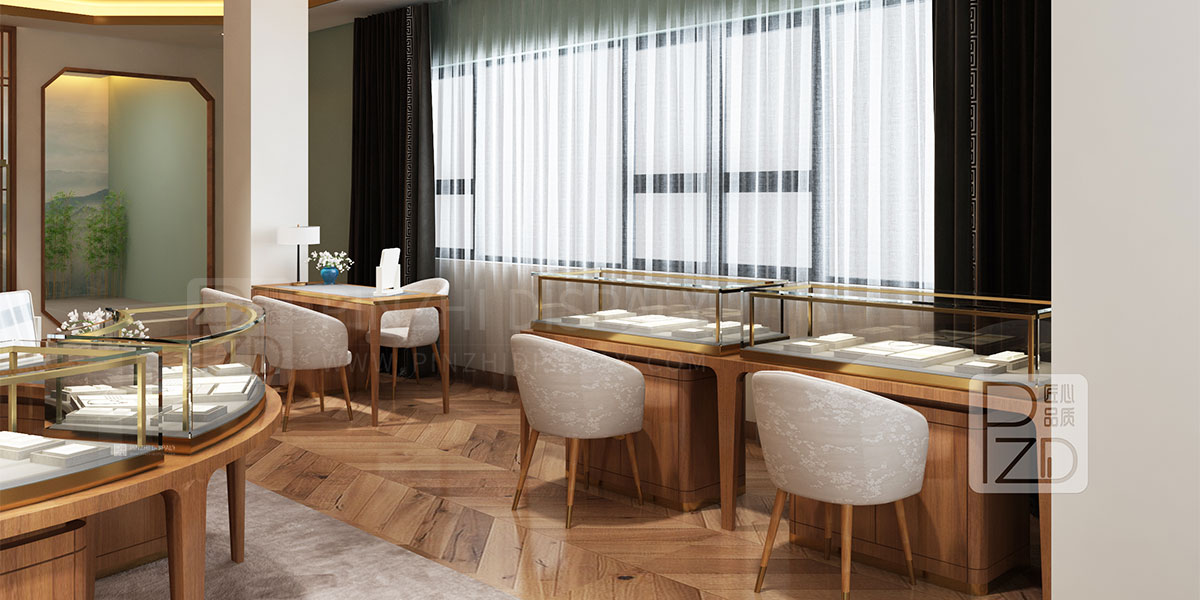 【Singapore】luxury vintage interior jewelry store design
