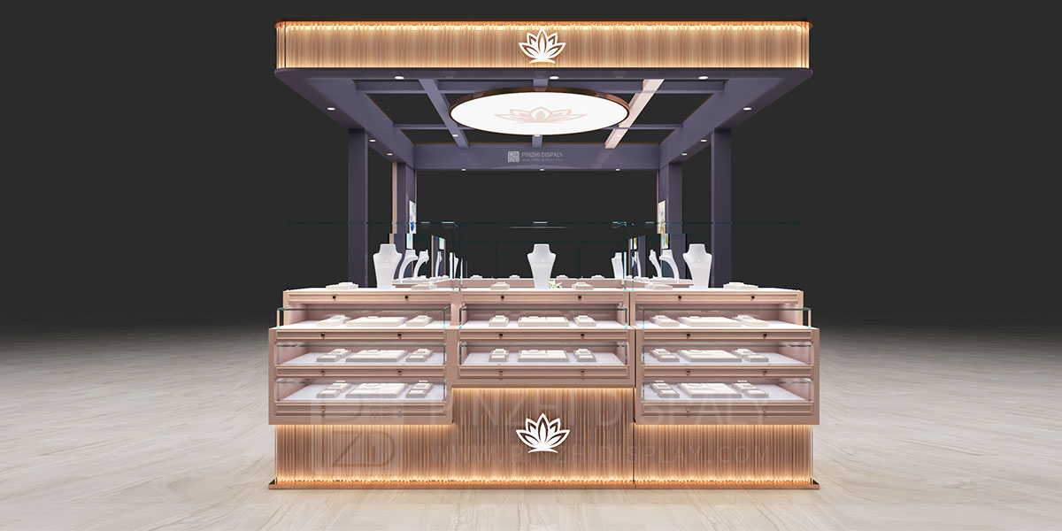 【USA】high end jewelry kiosk design for mall