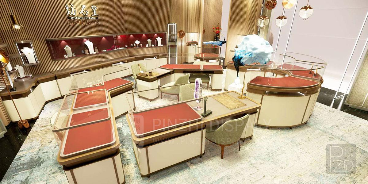 【HongKong】Modern creative diamond jewelry store design