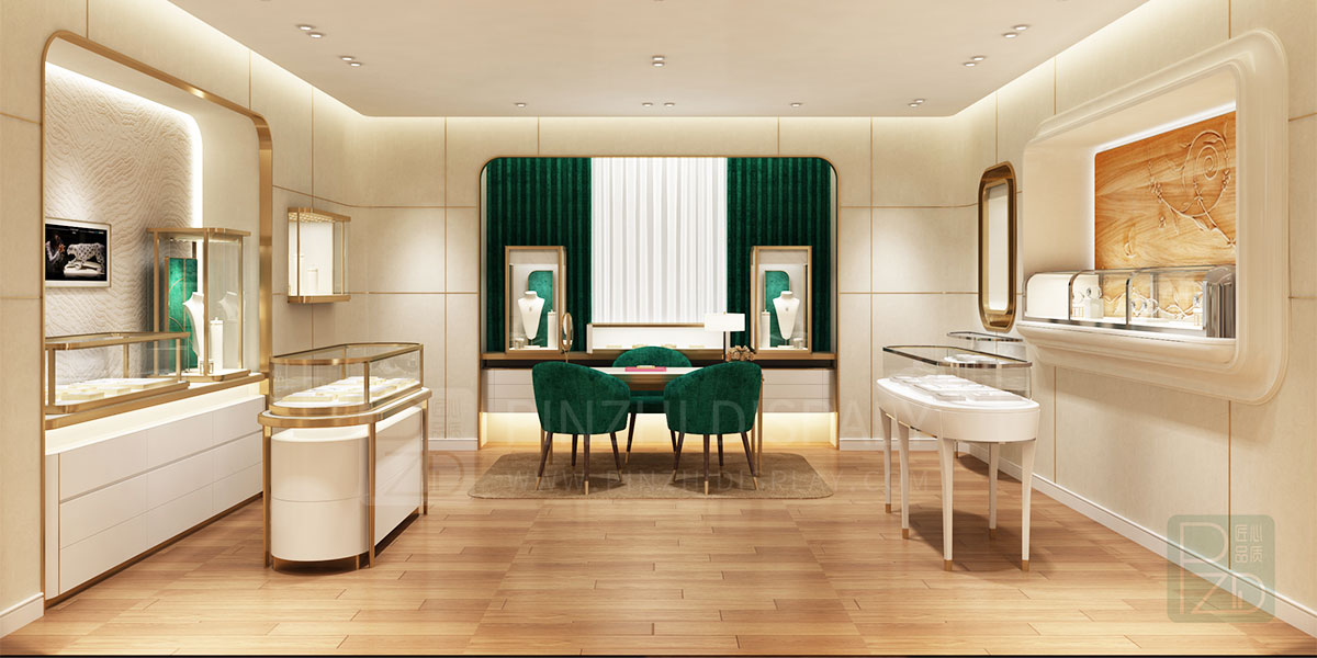 【2021 NEW】High end interior design for jewellery showroom