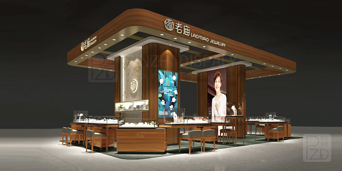 【2021 NEW】high end shopping mall jewelry kiosk design