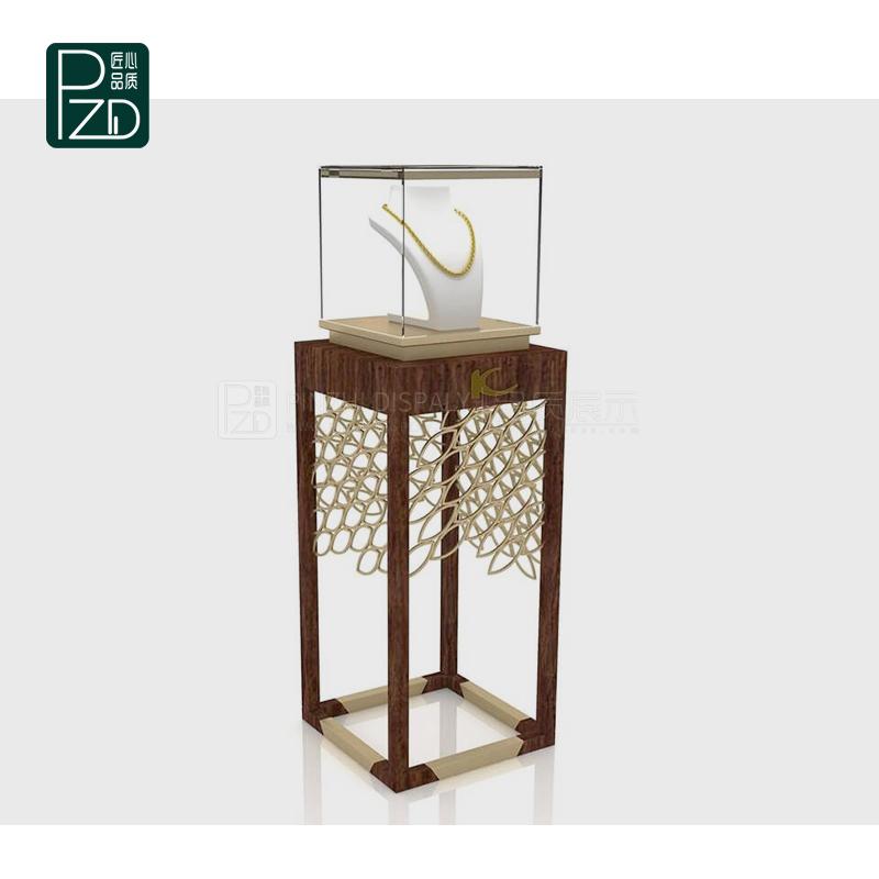 Golden luxury commercial fine jewellery showcase