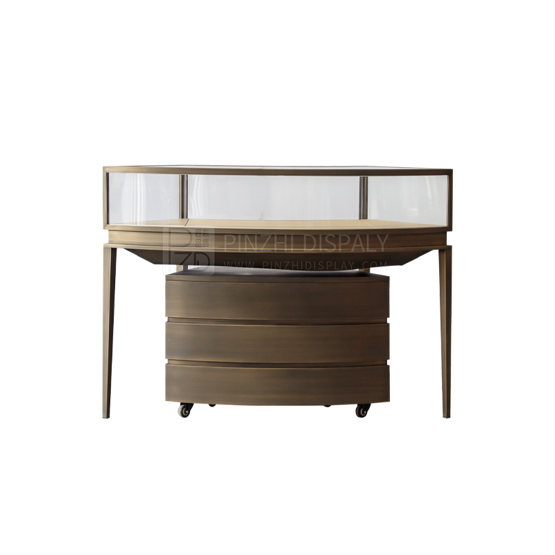 Custom color modern style freestanding jewellery cabinet with pedestal