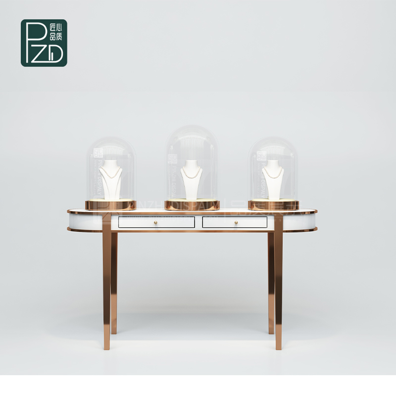 Luxury glass dome showcase jewellery display counter