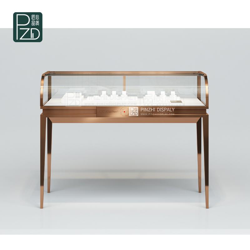 New design glass jewelry showcase for Diamond shop