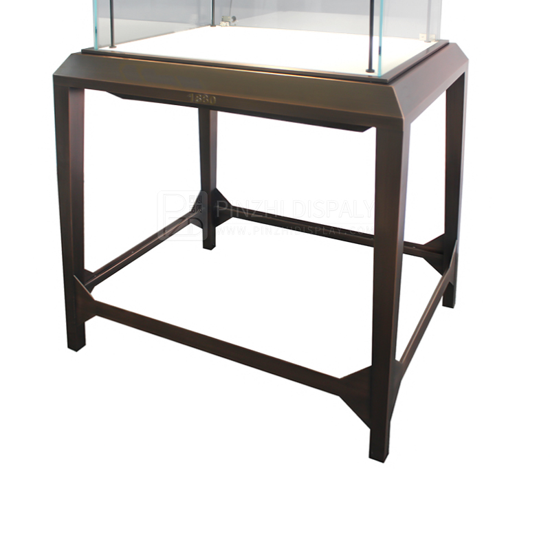 Luxury middle standing glass display cabinet for jewelry