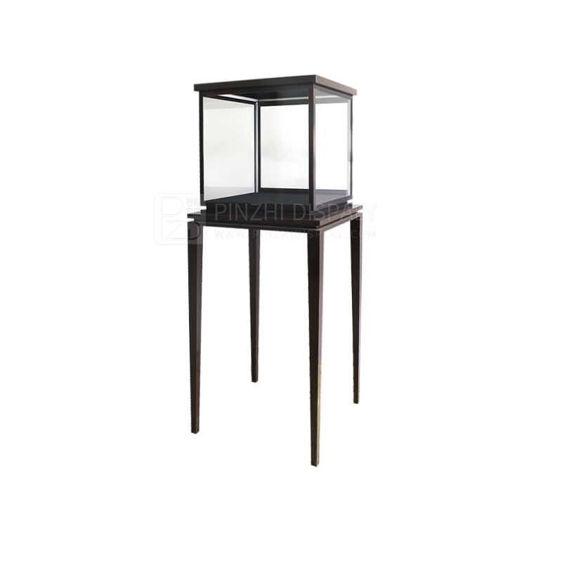 Free standing temper glass vintage jewelry display cases