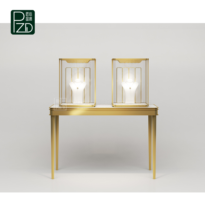 Modern style wood and glass jewelry display cases