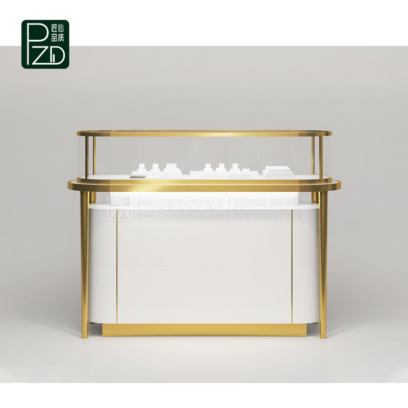 High end jewelry store white jewelry showcase design