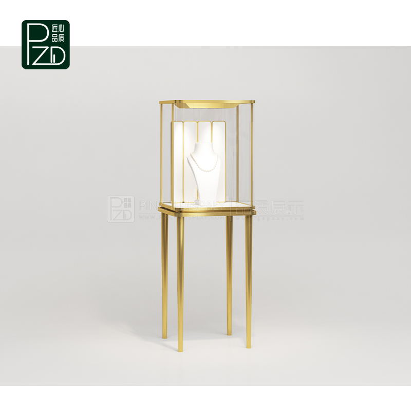 Small glass jewelry display case for jewelry exhibition shop